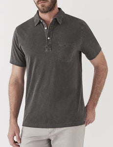 Faherty - Garment Dyed Polo - Charcoal