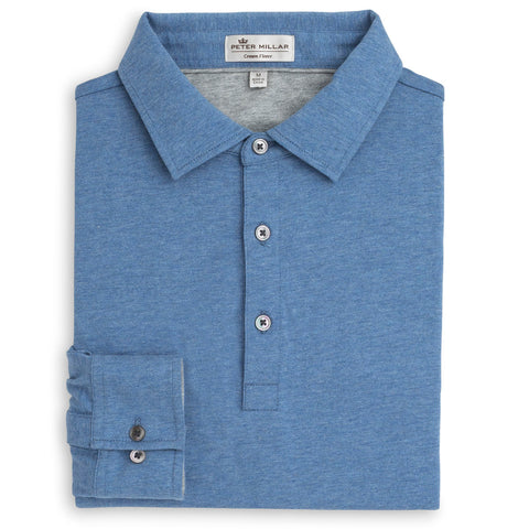 Peter Millar | Crown Fleece Long-Sleeve Polo