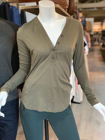 James Perse | Women's Long Sleeve Henley