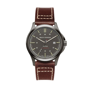 Jack Mason | Field Automatic 42mm | Grey Dial | Brown Leather Strap