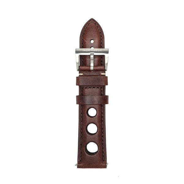 Jack Mason | Brown Leather Racing Strap 22mm