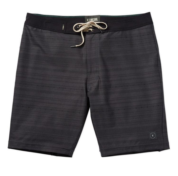 Linksoul | Subtle Printed Black Boardshorts