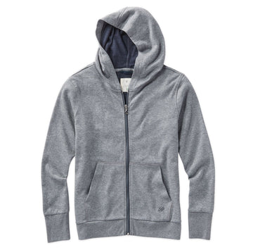 Linksoul | Heathered Full Zip Hoodie