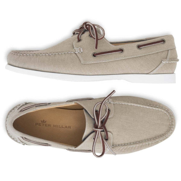 Peter Millar | Seaside Washed Canvas Boat Shoe