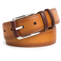 Peter Millar | Burnished Belt With Contrast Stitching