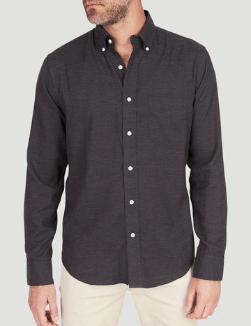 Faherty | Melange Oxford Shirt