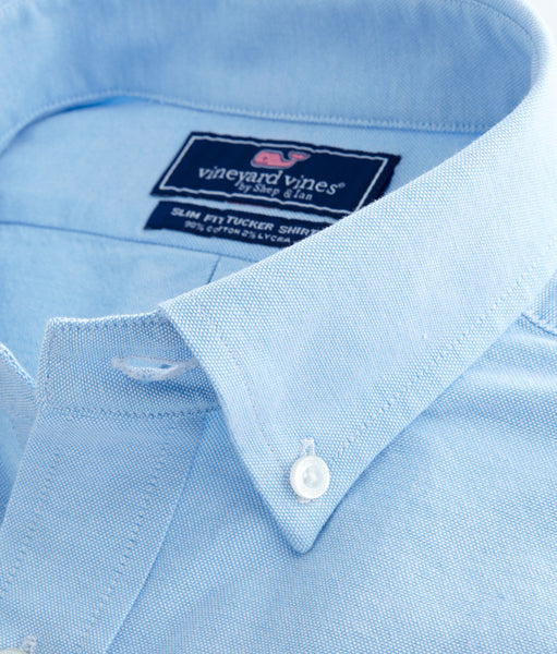 Vineyard Vines | Oxford Stretch Slim Tucker Shirt - Ocean Breeze