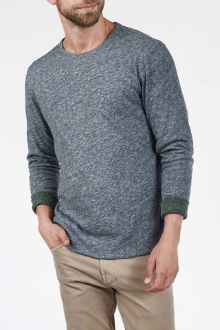 Faherty | Long-Sleeve Heather Reversible Crewneck