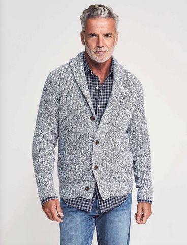 Faherty | Marled Cotton Cardigan