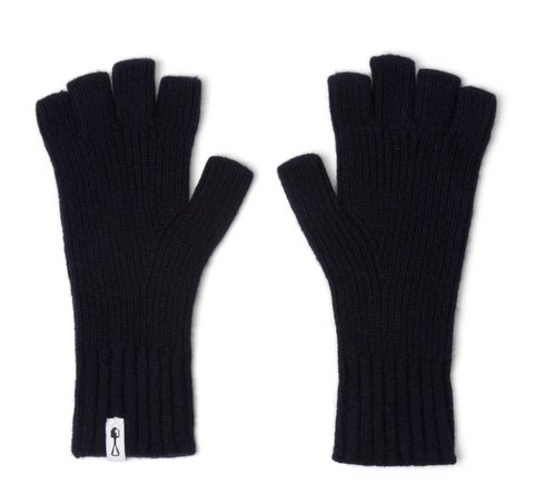 American Trench | Fingerless Cashmere Gloves | Navy
