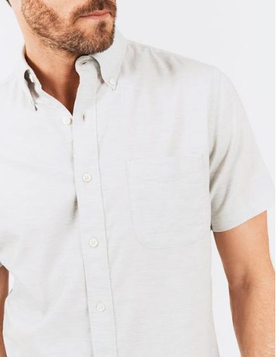 Faherty | Short Sleeve Stretch Oxford Shirt