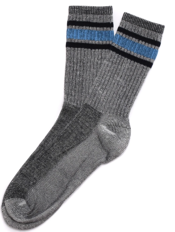 American Trench | Women's Activity Sock | Silver\Black\Light Blue