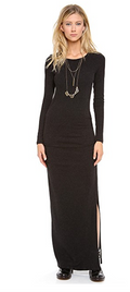 James Perse | Women's Long Sleeve Split Dress