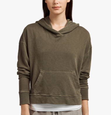 James Perse | Women's Relaxed Cropped Hoodie
