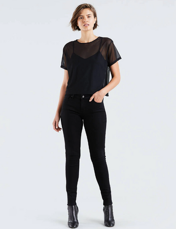 Levi's | 711 Skinny | Soft Black