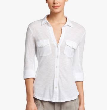 James Perse | Contrast Panel Shirt