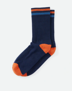 American Trench | Seasonal Kennedy Sock | Navy/ Royal/ Orange