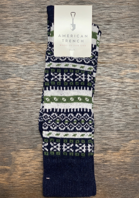 American Trench | Fair Isle | Navy/ Olive/ White