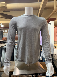 James Perse | Shirttail Hem Long Sleeve Crew