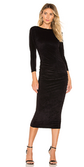 James Perse | Fitted Low Back Velvet Dress