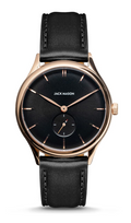 Jack Mason | Heritage Slim Watch | Black Dial/ Black Leather