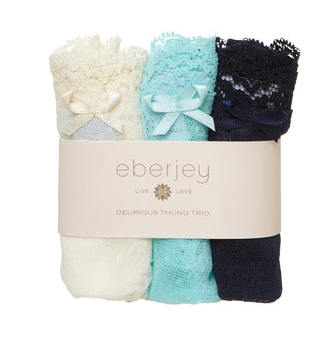 Eberjey | Delirious Classic Lace Low Rise Boythong 3 Pack