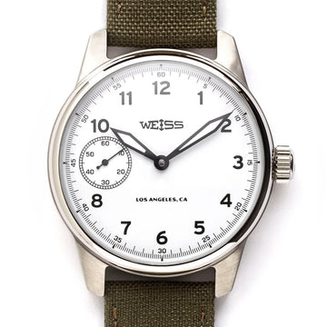 Weiss Watch Co. | 42mm Standard Issue Field Watch - White Dial