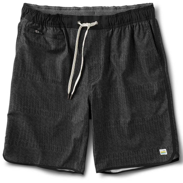 Vuori | Banks Short | Black Herringbone Texture