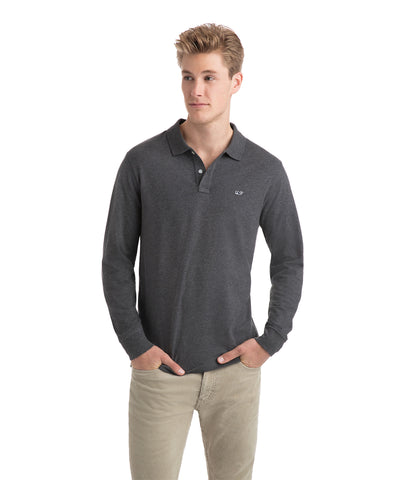 Vineyard Vines | Long Sleeve Stretch Heather Pique Polo