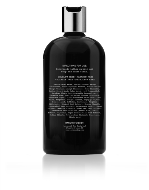 Lockwood NY | No. 21 Rosemary Geranium Hair+Body Wash