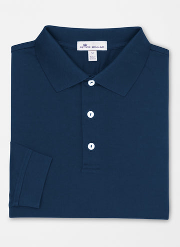 Peter Millar | Crown Ease Solid Cotton Long Sleeve
