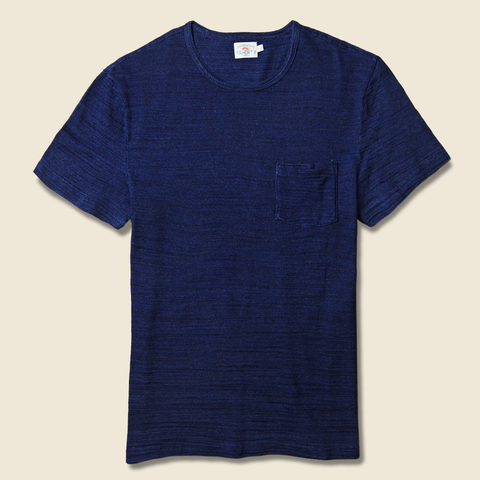 Faherty | Short Sleeve Indigo Pocket Tee