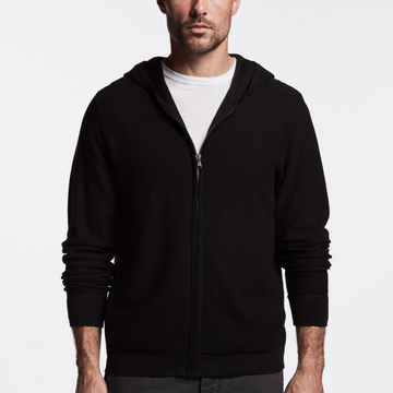 James Perse | Thermal Zip Up Hoodie