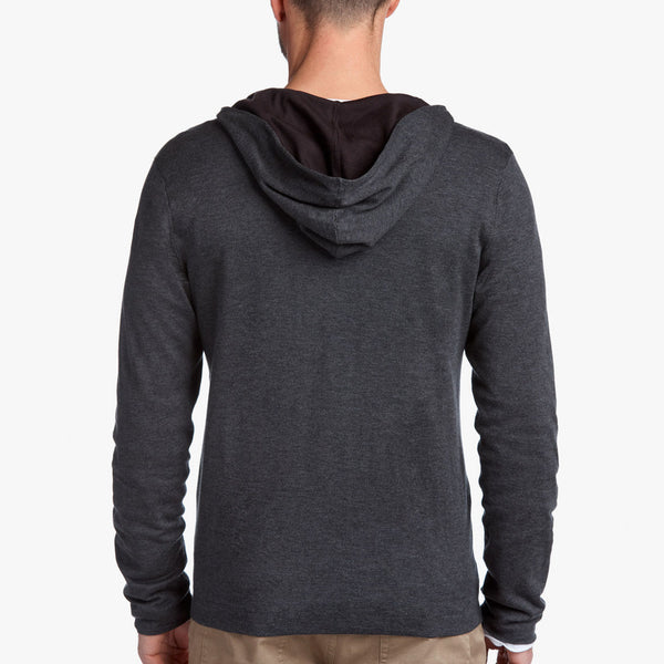 James Perse | Double Layer Front Zip Hoodie