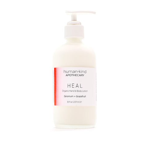 HEAL: Organic Hand & Body Lotion - Geranium + Grapefruit