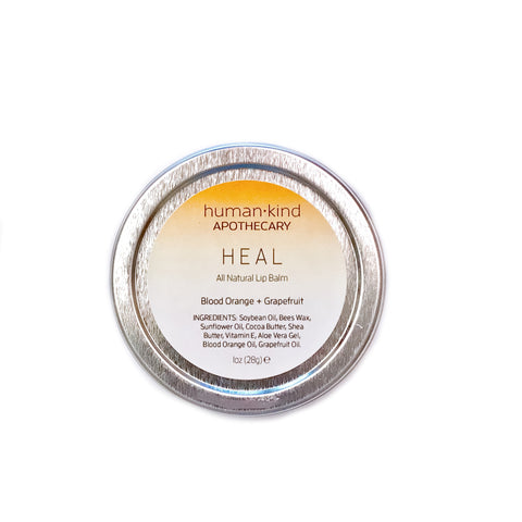 HEAL: Lip Balm - Blood Orange + Grapefruit