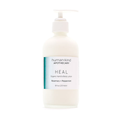 HEAL: Organic Hand & Body Lotion - Rosemary + Peppermint