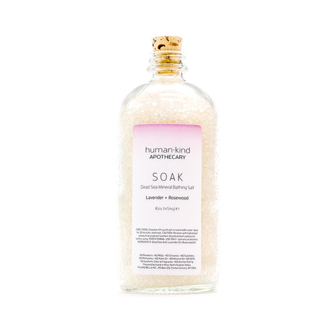 SOAK: Dead Sea Mineral Bathing Salt - Lavender + Rosewood
