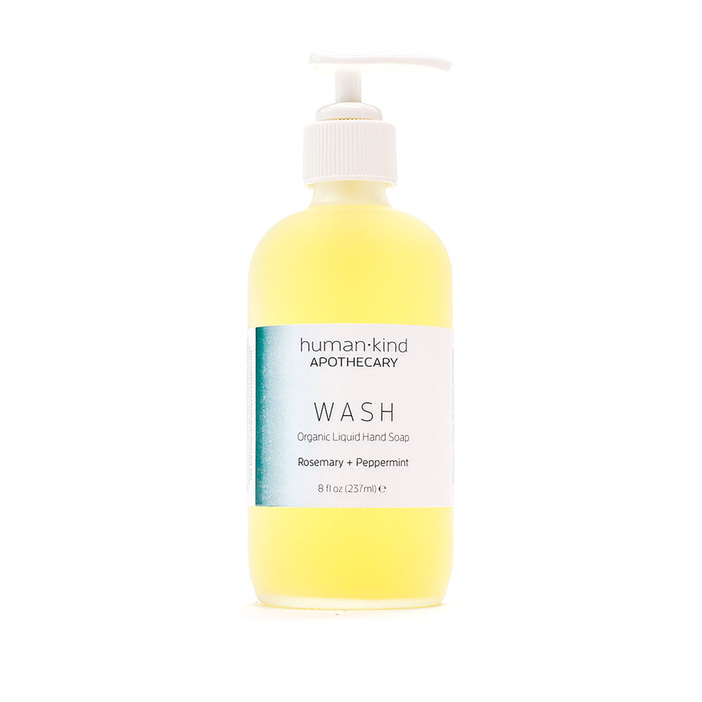 WASH: Organic Liquid Hand Soap - Rosemary + Peppermint