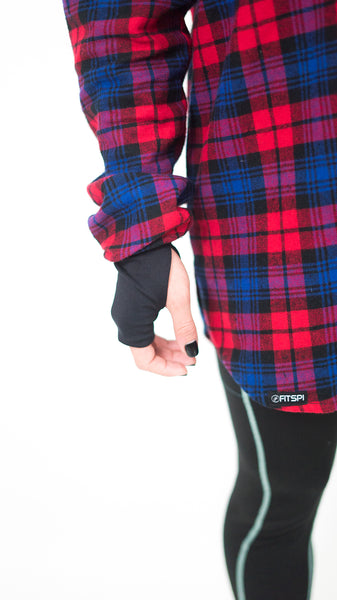FIT Flannel - Navy/Red