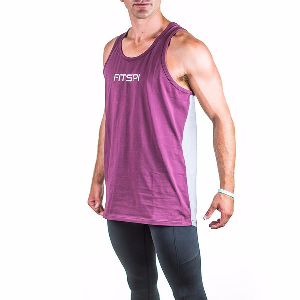 Toned Up Tank - Merlot/Slate