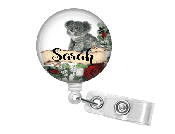 Retractable Badge Holder - Koala Bear - Clowdus Creations