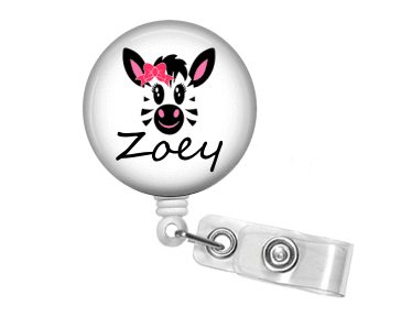 Badge Reel - Zebra Two - Clowdus Creations
