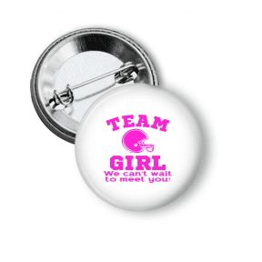 Gender Reveal - Team Girl Football - Clowdus Creations