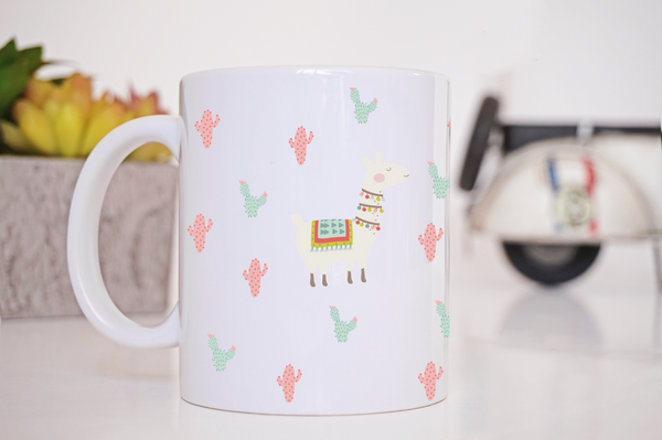Llama Coffee Mug  Personalized Coffee Mug Clowdus Creations