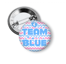 Gender Reveal - Team Boy - Chevron - Clowdus Creations