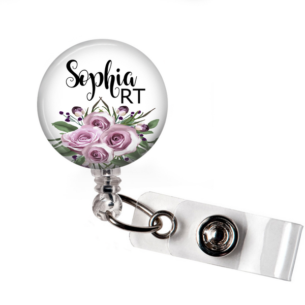 Purple Floral - Badge Reel | Clowdus Creations