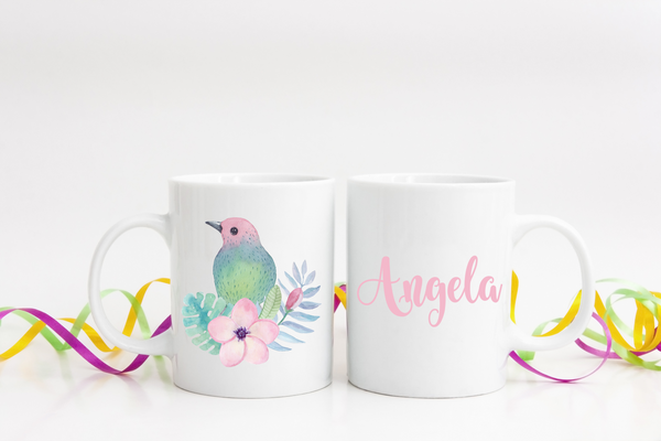 Personalized Mockingbird Coffee Mug  Personalized Coffee Mug Clowdus Creations