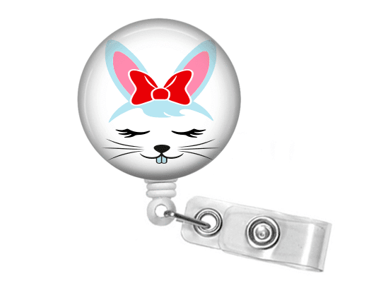 Badge Reel - Rabbit - Clowdus Creations