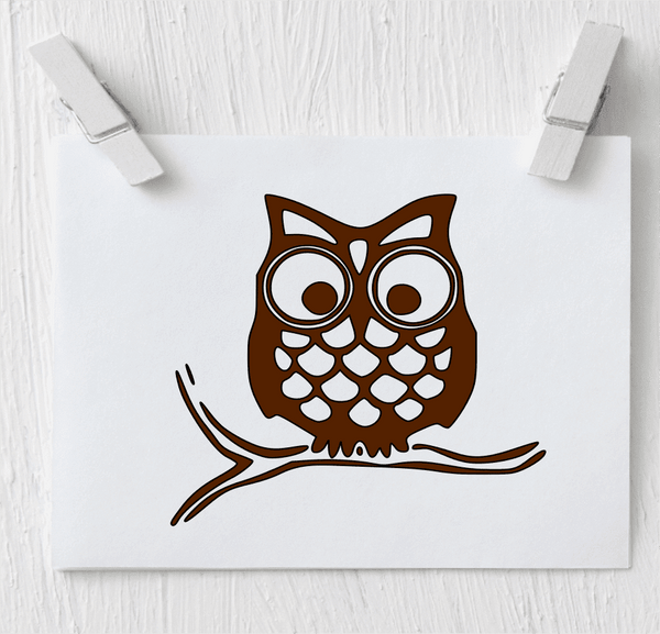 Owl Decal - Vinyl Decal - Clowdus Creations
